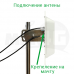 4G / 3G панельная антенна 15 дБи MIMO 1700-2700 МГц (с кабелем и переходниками)
