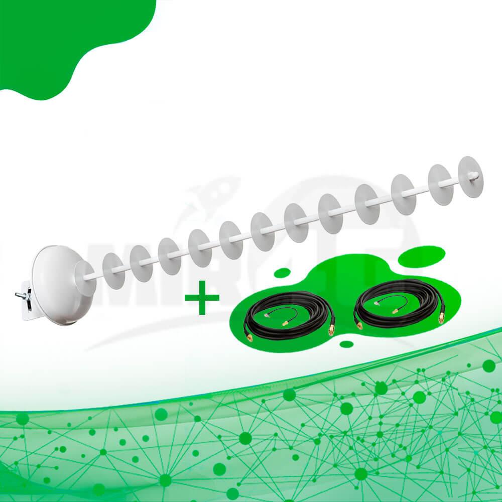 Возможности направленной 4G антенны с технологией МИМО 20 дБи Стрела 1800 - 2170 МГц (в комплекте 2 кабеля по 10 метров каждый и 2 переходника)