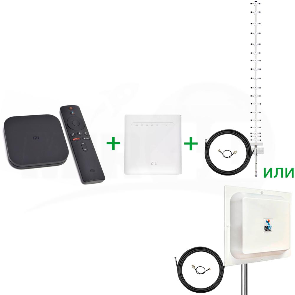 """Готовый комплект из Т2 приставки, роутера и антенны 4G """"Интернет + TV +"""" 4G / 3G / LTE"""