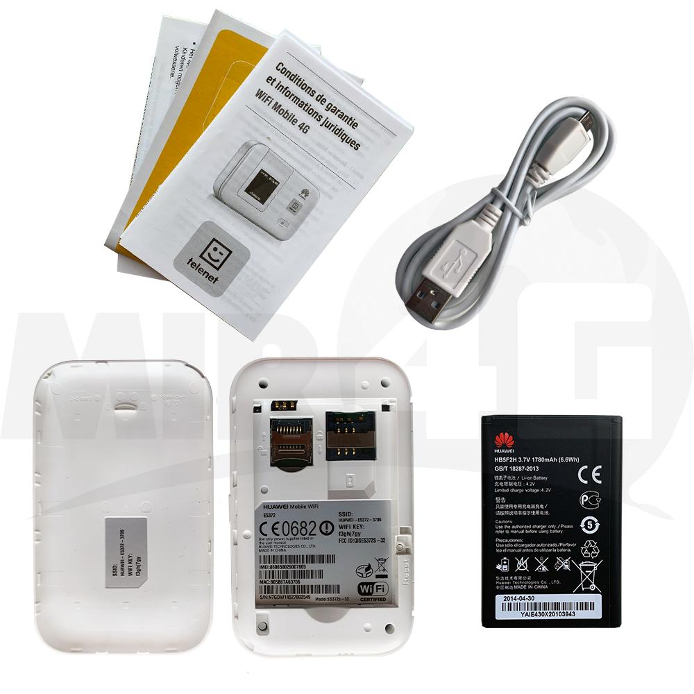 4G Wi-Fi роутер Huawei E5372 ( до 6 часов автономной работы, 4G - до 150 Мбит/с, до 10 подключений)