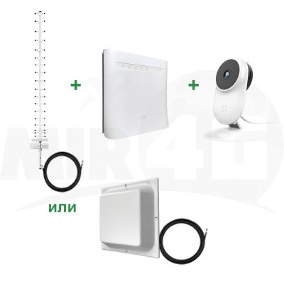 """Готовый к работе комплект Интернета """"Максимум + IP-камера"""" (надежное видеонаблюдение в помещении) 4G / 3G / LTE"""