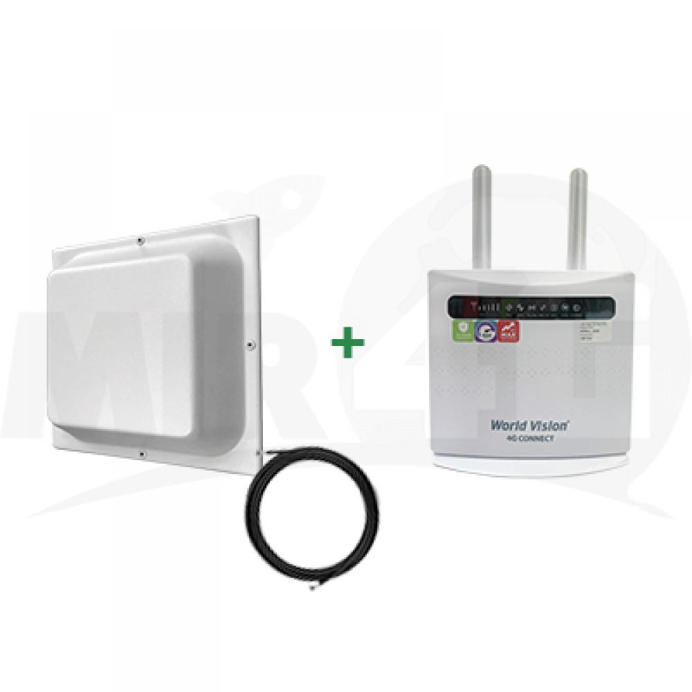 """Готовый комплект с усиленным приемом Интернет для дома и офиса """"Улучшенный"""" (простой в установке, обеспечивает скорость до 300 мбит) Wi-Fi / 4G / 3G / LTE"""
