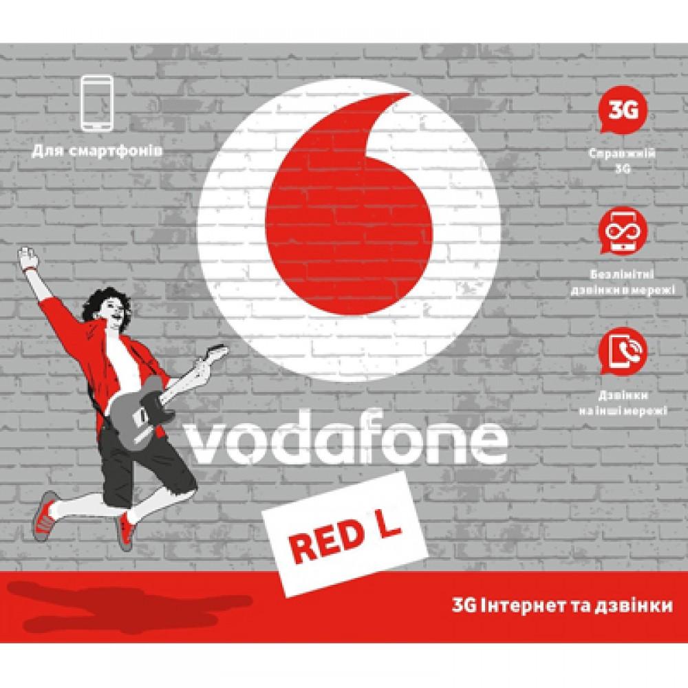Стартовый пакет Vodafone Red L
