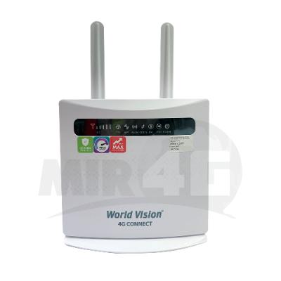 Wi-Fi 4G роутер World Vision 4G Connect (две съемных антенны, скорость Wi-Fi до 300 Мбит/с, 4G до 150 Мбит/с)