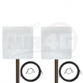 4G 3G MIMO панельная антенна Double Pro 19 дБи (1700-2700 МГц) + 2 мотка кабеля по 10 м + 2 переходника