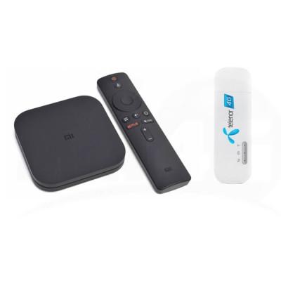 Готовый к работе комплект 4G Интернет + TV Lite (медиаприставка с дистанционным управлением и модем) 4G / 3G / LTE