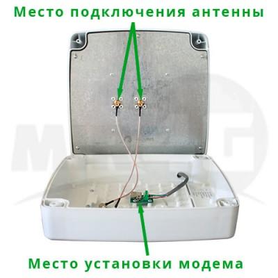 4G 3G панельная антенна Kroks MIMO 15 дБи (до 100 метров кабеля без потери скорости интернета) с разъемом для модема