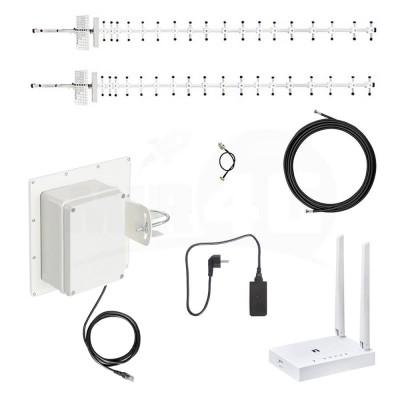 """Готовый к работе комплект интернета """"Power Box L"""" (с мощной антенной, модемом, двумя роутерами) 4G / 3G / LTE"""