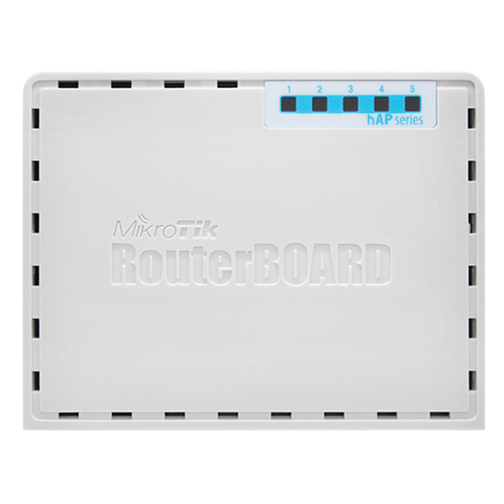 Стационарный роутер MikroTik RB952Ui-5ac2nD (до 300 Мбит/с по Wi-Fi, до 100 Мбит/с по кабелю)