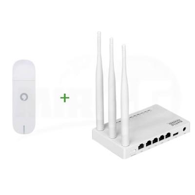 """Готовый комплект для Интернета """"Домашний"""" (мощный Wi-Fi модуль, роутер Netis + модем Huawei)"""