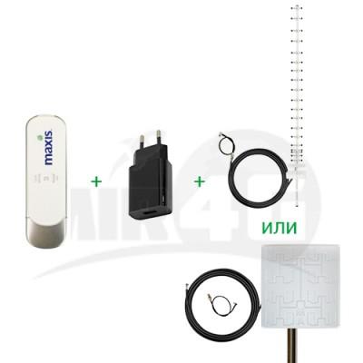 Готовый комплект интернета для дома с мощной антенной и безлимитным тарифом:  ZTE MF70 c Wi-Fi