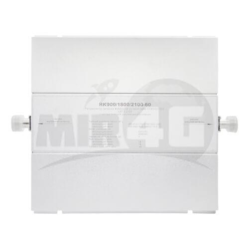 4G 3G 2G трехдиапазонный репитер KROKS (усиливает голосовую связь и Интернет на площади до 500 кв.м.)
