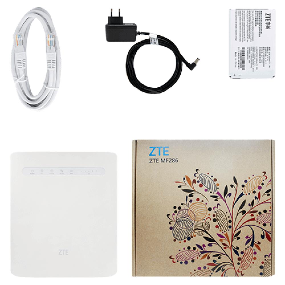 4G стационарный роутер ZTE MF286 (надежные разъемы для подключения антенн)