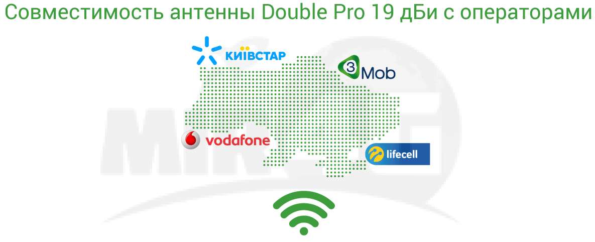 Double Pro 19 дБи  - операторы