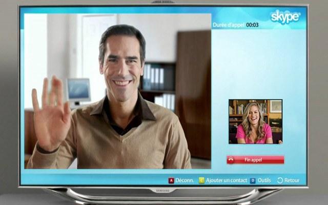 Общение по скайп на домашнем телевизоре